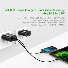 ugreen 5v3 4a dual usb charger travel usb