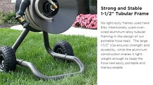 portable garden hose reels coated with a high grade spartan bronze powder coat finish this hose portable garden hose reels