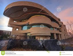 Curved Architecture National Museum American Indian Washington Dc Stock Photo Image