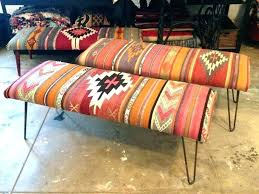 rug covered ottoman rug covered ottoman rug covered ottoman blue bench large benches and s upholstered