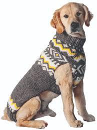 Grey Nordic Wool Dog Sweater