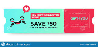 Vector Gift Voucher With Coupon Code Fast Food Restaurant