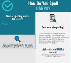 The international phonetic alphabet (ipa) is a set of symbols that linguists use to describe the sounds of spoken languages. Correct Spelling For Darpa Infographic Spellchecker Net