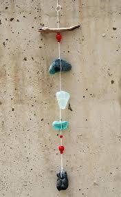 beach wind chimes sea glass hag stone driftwood mobile beach style tumbled wind chime chimes copy beach wind chimes