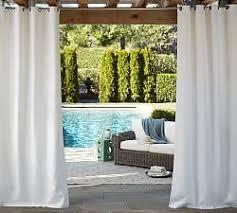 Sunbrella Solid Indoor/Outdoor Grommet Drape - Natural ...