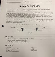 lab partners newton s third law