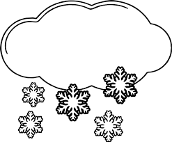 Small Picture Winter Cloud And Snow Coloring Page Wecoloringpage