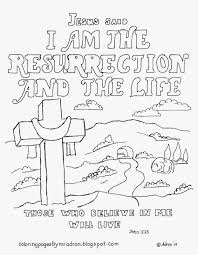 Small Picture Coloring Pages for Kids by Mr Adron I Am The Resurrection And