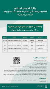 وظائف وزارة الحرس الوطني القبول والتسجيل 1442 - ثقفني