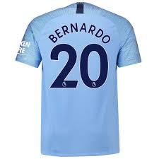 Manchester City Home Shirt 2018 2019 Bernardo 20 Printing