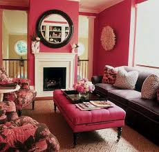 decorating idea family room. Pink Square Ottoman Table Color For Interior Family Room Decoration With  Round Wall Mirror Above Fireplace Decorating Idea And Best Sofa Design Also Using Decorating Idea Family Room