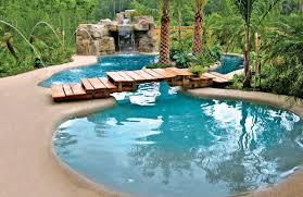 swimming pool backyard. Contemporary Backyard Amazing Zeroentry Backyard Swimming Pool With Waterfall And Bridge To Swimming Pool Backyard A