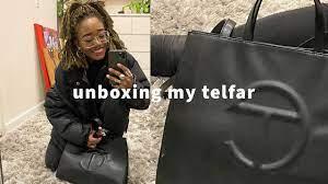 unboxing my (medium black) telfar bag ...