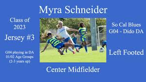 Myra Schneider USSDA Soccer Highlight Video 2 - YouTube