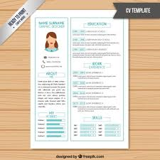 Colorful Resume Templates Inspiration Resume Template In White Color With Light Blue Details Premium