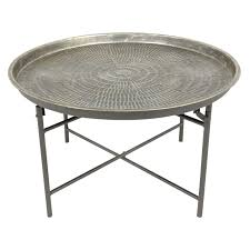grey vintage metal round coffee table to complete living room design ideas full hd