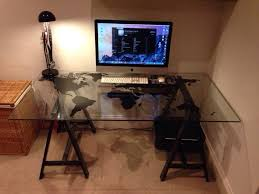 best 25 ikea glass desk ideas on desks ikea office intended for glass desk ikea ideas