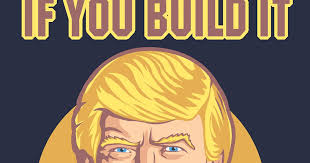 rogue cartoonist build the wall trump shirt build wall
