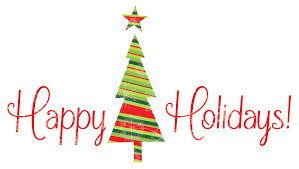 happy holidays animated clipart