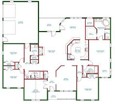 single level one story ranch house plan