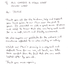 Thank You Note After Funeral To Coworkers Thank You To Former Coworkers After Funeral