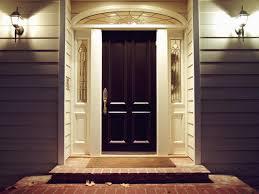 exterior lighting front door with wall mount sconces