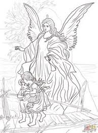 Small Picture Guardian Angel coloring page Sunday School Coloring Pages