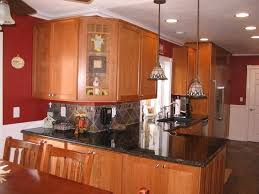 Unique Light Cherry Kitchen Cabinets Graceful Sensual Wooden H Throughout Decorating