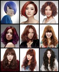 Hairdressing Poster Photo Hairstyle Multi Image Design