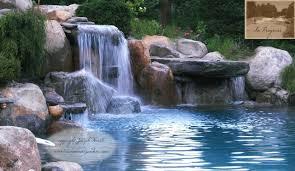 NJ Swimming Pool Waterfall & Dive Rock traditional-pool