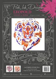 Pink Ink Designs Stencils Creative Expressions Pink Ink Layered Stencils Lion 14 5 X