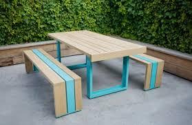 simple furniture ideas. simple outdoor furniture made of white oak ideas