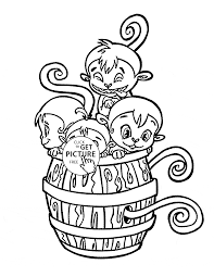 Funny Little Monkeys Coloring Page For Kids Animal Coloring Pages