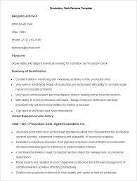 sample production clerk resume template sample resume production worker