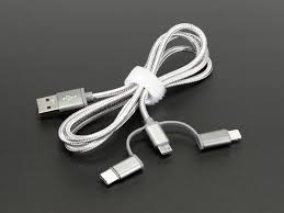 usb 3 in 1 sync and charge cable micro b type