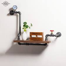 iron pipe furniture. Loft Style Furniture Wall Hanging Iron Pipe Book Shelf Creative