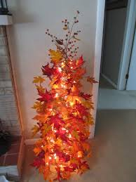 Made My Own Fall Tree Using A Tomato Cage Christmas Lights
