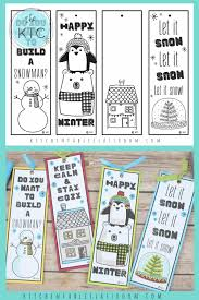 Listening to christmas carols, sipping eggnog, hanging out with family and friends—coloring can make any christmas tradition more fun. Winter Bookmarks To Print And Color The Kitchen Table Classroom