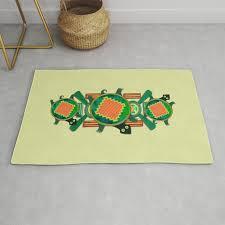 native american folk art turtle rug