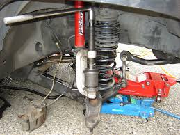 ball joint press kit. tighten the press clock wise until ball joint comes out. if it is rusted in place, use hammer and tap on lip of axle, pressure should kit