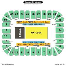 Berglund Center Theater Seating Chart 45 High Quality Seating Chart For Roanoke Civic Center