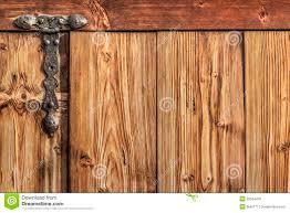 Antique Rustic Pine Wood Barn Door - Detail Stock Photo - Image ...