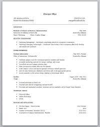 Resume Sample Resume For New College Grad
