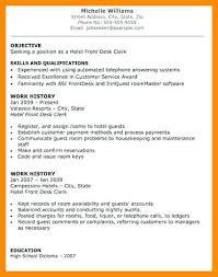 Hotel Front Desk Supervisor Resume Medical Front Desk Resume Front