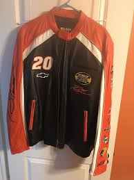 tony stewart wilsons leather nascar coat jacket collecter mens l from chase