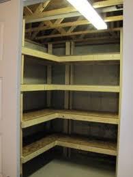 Unfinished Corner Shelves Basement Storage Reveal Diy Shelving Pool Table And Basements 85