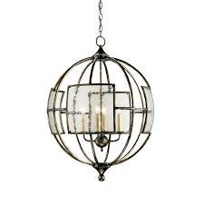 currey company pyrite bronze four light broxton orb chandelier