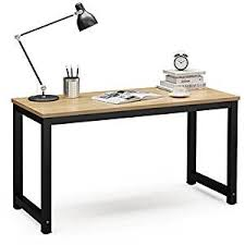 office desk photo. Tribesigns Computer Desk, 55\u0026quot; Large Office Desk Table Study Writing Workstation For Photo S