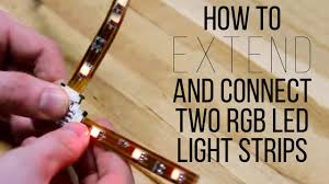 Can You Connect Led Light Strips Together How To Extend And Connect Two Rgb Led Light Strips Superbrightleds Com
