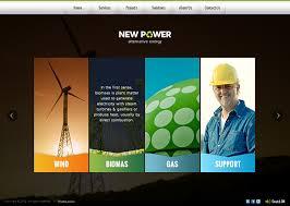 Html5 Website Templates Simple New Power Renewable Energy HTML48 Template On Behance